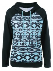 Tribal Pattern Hoodie With Thumb Holes -