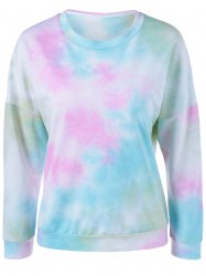 Tie-Dye Sweatshirt - BLUE AND PINK