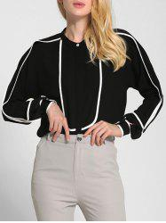 Loose Color Block OL Shirt -