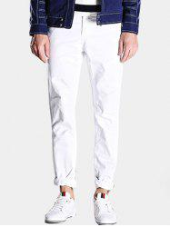 Mid-Rise Zipper Fly Straight Leg Casual Pants