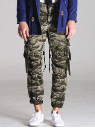 Loose Fitting Zipper Fly Camo Cargo Pants