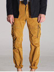 Zipper Fly Straight Leg Multi-Pocket Cargo Pants