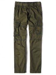Zipper Fly Straight Leg Multi-Pocket Cargo Pants -