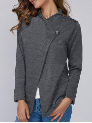 Single Button Long Sleeve Plain T-Shirt