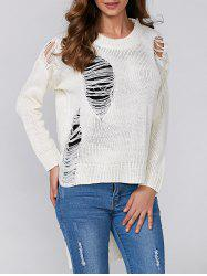 High Low Ripped Pullover Knitwear -