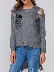 High Low Ripped Pullover Knitwear
