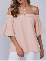 Autumn Zipper Off-The-Shoulder Blouse -