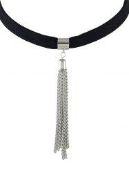 ALloy Tassel Choker Necklace