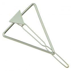 Hollow Alloy Triangle Hairpin - SILVER