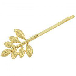 Emboss Feuille Bud alliage Hairpin - Or