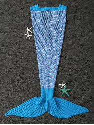Household Warm Knitted Kids Sofa Wrap Mermaid Blanket -