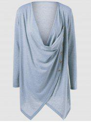 Single Breasted Asymmetrical Blouse -