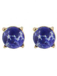 Pair of Faux Stone Stud Earrings -