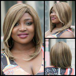 Medium Side Bang Tail Adduction Mixcolor Synthetic Wig - COLORMIX
