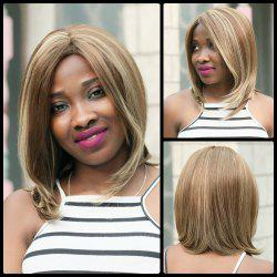 Medium Centre Parting Tail Adduction Mixcolor Synthetic Wig -