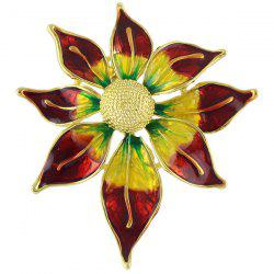 Enamel Ombre Tender Flower Brooch