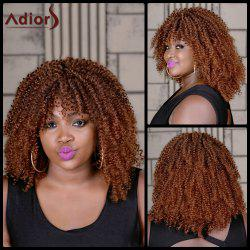 Adiors Long Colormix Oblique Bang Curly Synthetic Wig - COLORMIX