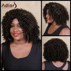 Adiors Medium Curly Side Parting Colormix Synthetic Wig -