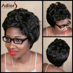 Adiors Short Fluffy Natural Curly Synthetic Wig -