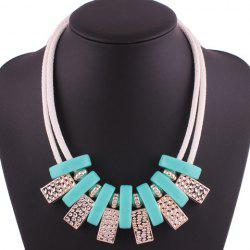 Geometric Block Layered Rope Necklace