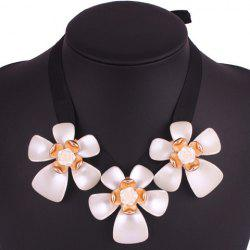 Rose Floral Necklace - WHITE