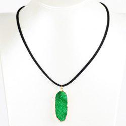 Oval Natural Stone Necklace
