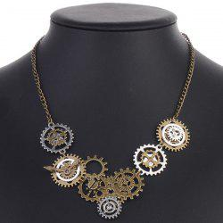 Circle Gear Pendant Necklace