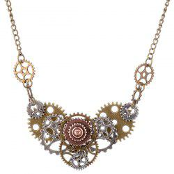 Circle Machine Gear Necklace