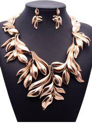Vintage Tree Leaf Necklace and Earrings -
