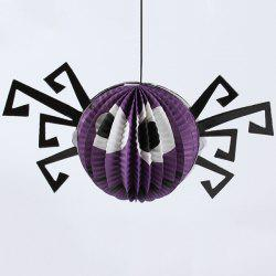 Halloween Party Supply Spider Paper Hanging Lantern Decoration - PURPLE