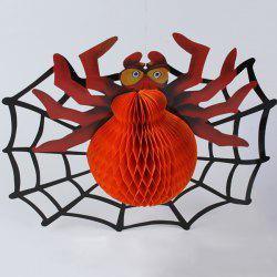 Creative Spider Paper Lantern Halloween Supply Party Decoration - ORANGE