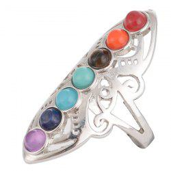 Alloy Multicolored Beads Ring