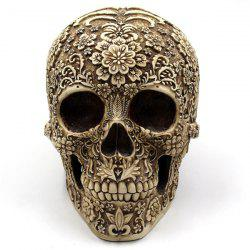 Retro Halloween Party Floral Skull Prop Decoration -