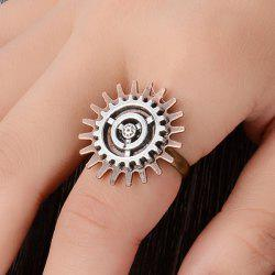 Circle Gear Floral Ring -