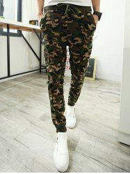 Single Pocket Back Camo Drawstring Army Jogger Pants -