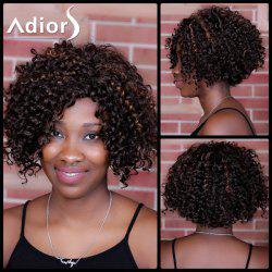 Adiors Short Highlight Curly Side Parting Synthetic Wig - COLORMIX