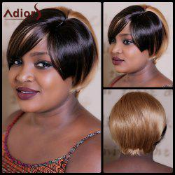 Adiors Short Straight Double Color Bob Synthetic Wig