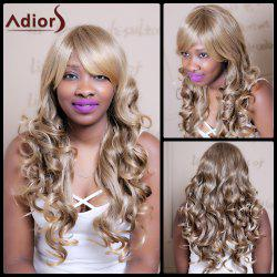 Adiors Long Oblique Bang Wavy Highlight Synthetic Wig