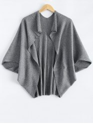 Batwing Ribbed Cape Cardigan -
