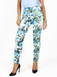 Leaf Printed Pencil Pants -