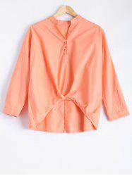 Long Sleeve High Low Blouse -