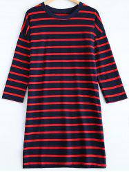 Striped Pullover T-Shirt Dress -