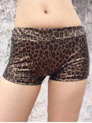 Leopard Boxer Shorts - BROWN