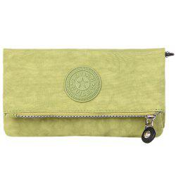 Zip Metal Stitching Clutch Bag -