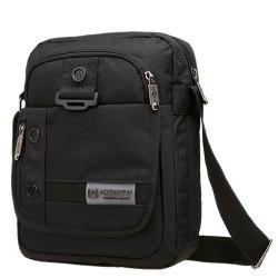 Zippers Nylon Deep Colour Crossbody Bag - BLACK