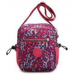 Zippers Color Splicing Drawstring Crossbody Bag -