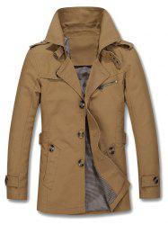 Epaulet Design Buckled Single Breasted Coat