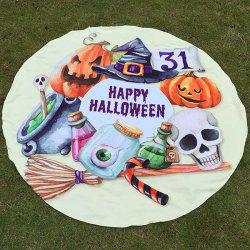 Festival Happy Halloween Element Print Polyster Round Beach Throw -