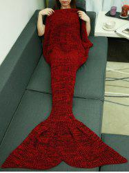 Christmas Knitting Sleeping Bag Fish Tail Design Blanket - DEEP RED