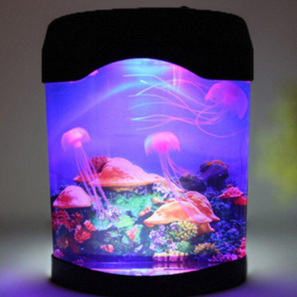 LED MultiColor Sea World Swimming Jellyfish Lamp Night LightHOME<br><br>Color: COLORMIX; Style: Modern/Contemporary; Categories: Technology Accessories; Material: Other; Size(CM): 18*10*23; Weight: 1.481kg; Package Contents: 1 x Jellyfish Night Light;